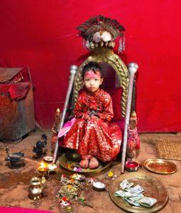 Великая Богиня Кумари в теле маленькой Девочки